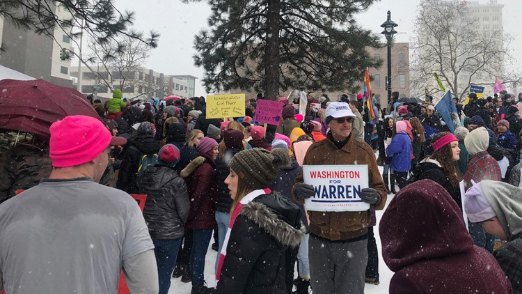 Thousands attend Spokane rallies despite snow