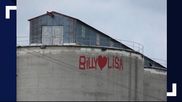 'Billy loves Lisa': Search for couple whose names are painted on Spokane grain silos