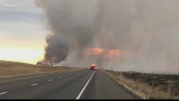 5,000-acre wildfire in Franklin County pushes smoke into Spokane area