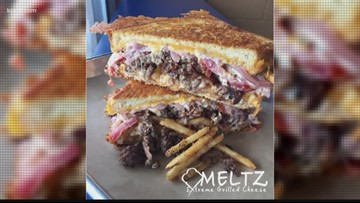 Meltz Extreme Grilled Cheese stops by for National Grilled Cheese Day