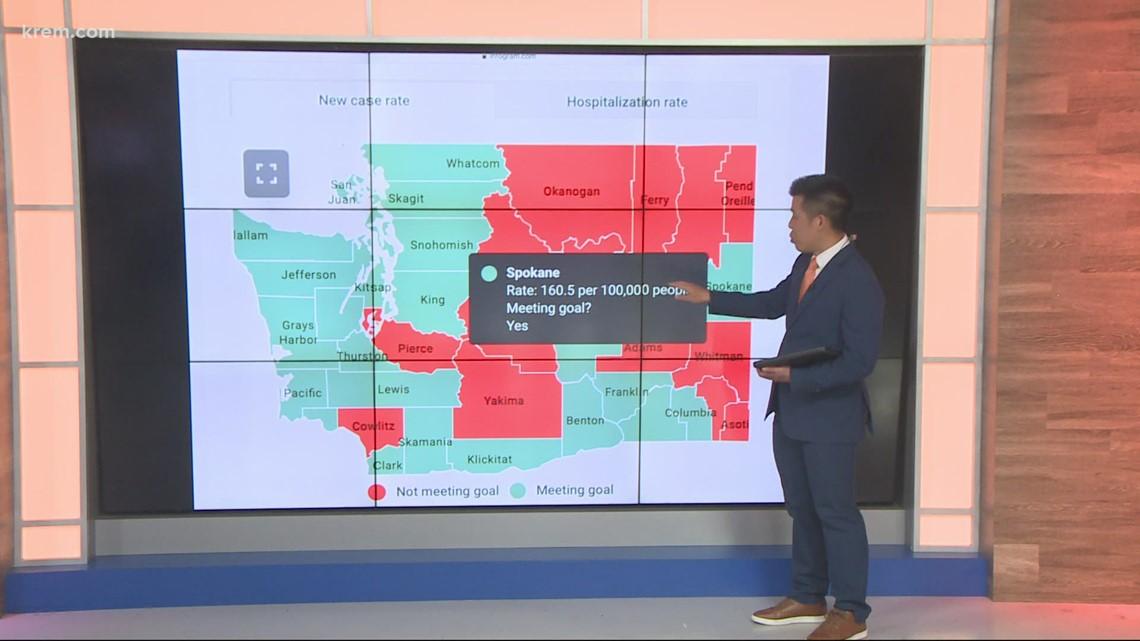 Phase 3 'Healthy Washington' reopening map