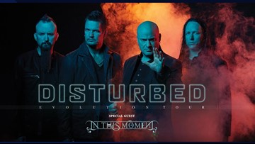 Disturbed will rock the Spokane Arena in July