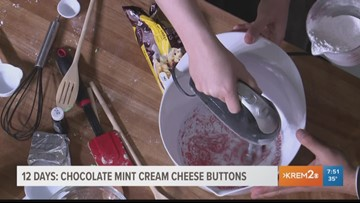 12 Days of Christmas: Chocolate Mint Cream Cheese Buttons