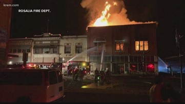 One building destroyed, three taken to hospital after downtown Colfax fire