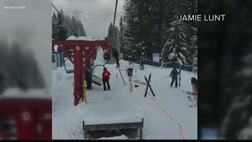 49 Degrees North closes one lift after part breaks; chair separates from different lift