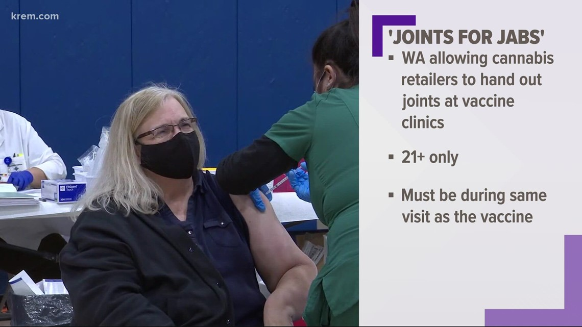 Joints for Jabs: Washington cannabis retailers approved to give vaccine incentives