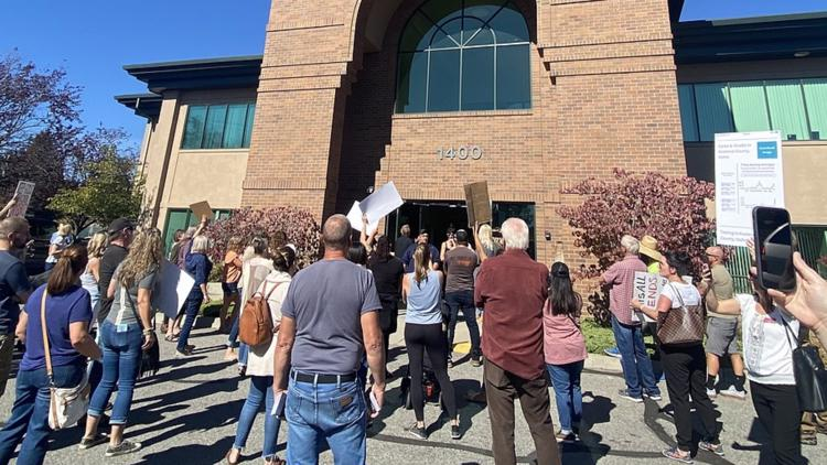 'Tearful and truly saddened': Coeur d'Alene School Board Chair addresses anti-mask protest