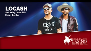 Win tickets to LOCASH at the Coeur d'Alene Casino on June 15th!