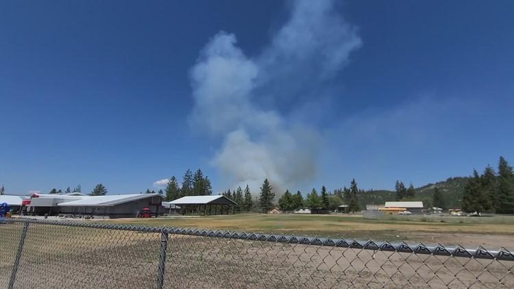 KREM 2 viewer video: Fire near Springdale in Stevens County