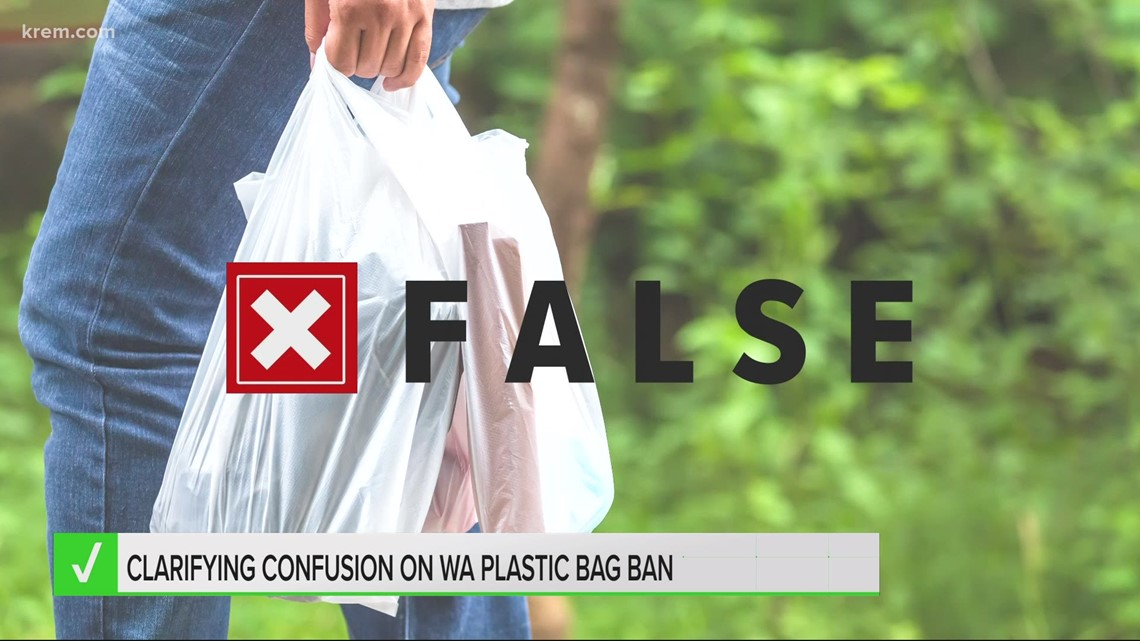 VERIFY: WA plastic bag ban does not go into effect Friday