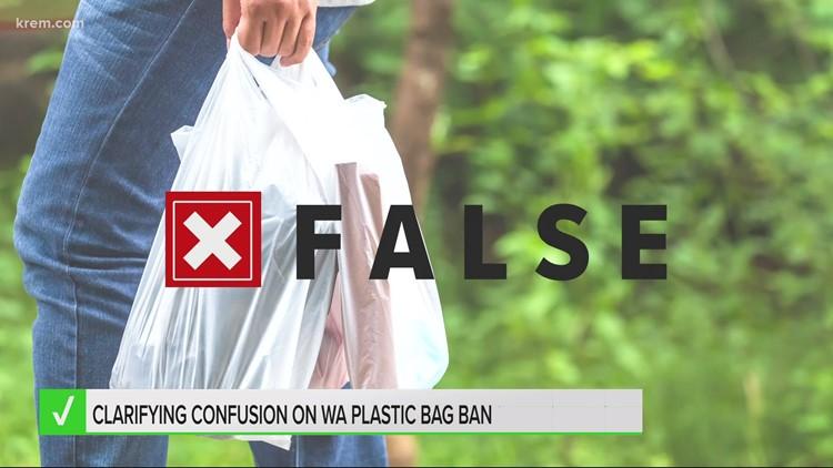 VERIFY: Washington plastic bag ban does not go into effect Friday