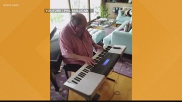 KREM viewer Phillip plays 'Imagine' to give a little peace of mind