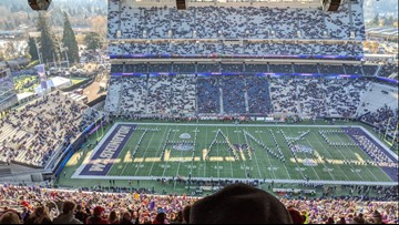 UW Marching Band thanks WSU for 2018 Apple Cup tribute by playing Cougar fight song