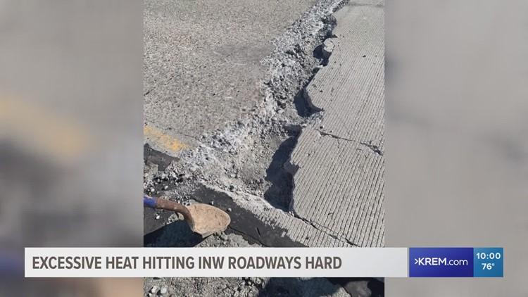 Excessive heat damages Inland Northwest roadways