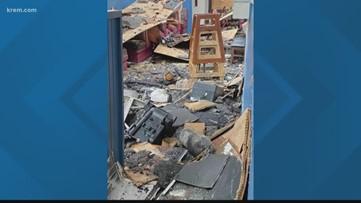 Photos show destruction of Schmidty's Burgers after Coeur d'Alene fire