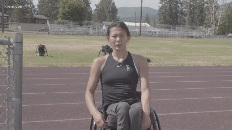 Local Paralympian finishes fourth in 100m T54 final
