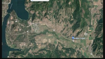 Peach Crest Fire burning 5 to 10 acres near Kettle Falls