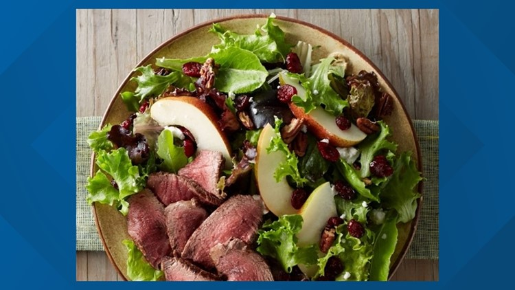Tom's BBQ Forecast: Beef tenderloin, cranberry and pear salad