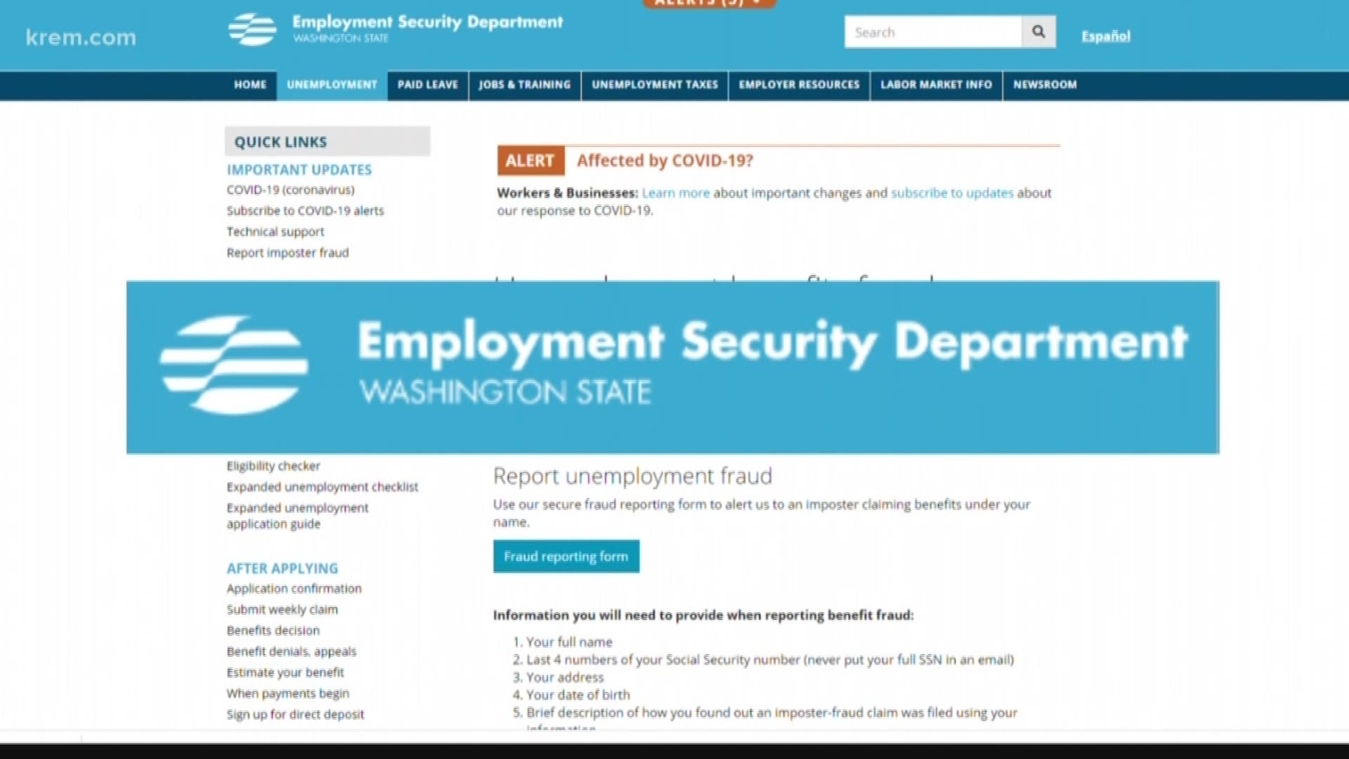 Unemployment Fraud In Washington What You Need To Know Krem Com