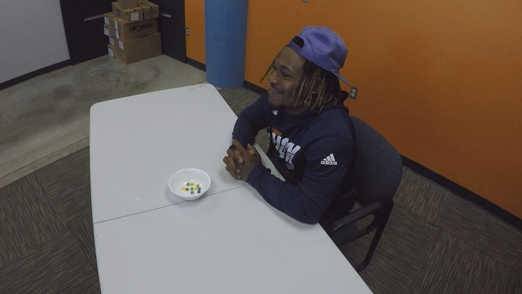 How well does Davonte Sapp-Lynch know his Skittles flavors?