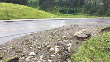 TJ Meenach Drive reopens after flood waters push dirt, debris onto the road