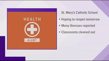 St. Mary's Catholic School in Moscow closed Monday due to illness