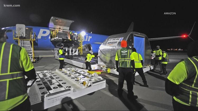 First Amazon Air flight into Spokane lands Thursday morning