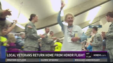 Local veterans return home from Honor Flight