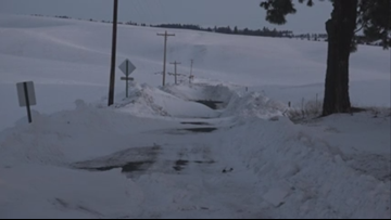 'It's piling up': Snow drifts are trapping Spokane County residents in their homes