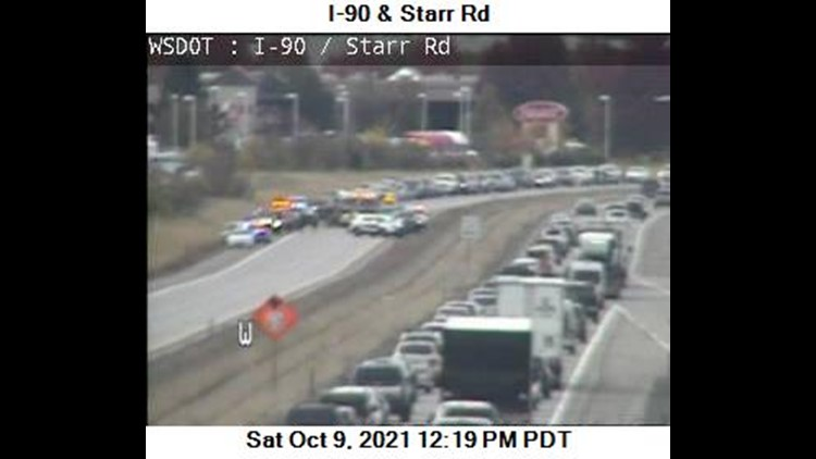 Motorcyclist killed in eastbound I-90 crash causing delays near Liberty Lake