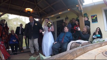 Post Falls couple marries early for bride's terminally ill father