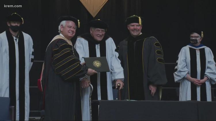 NFL legend Jerry Kramer receives honorary degree from University of Idaho