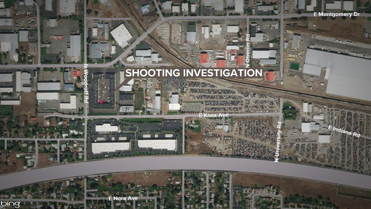 Shooting investigation scene