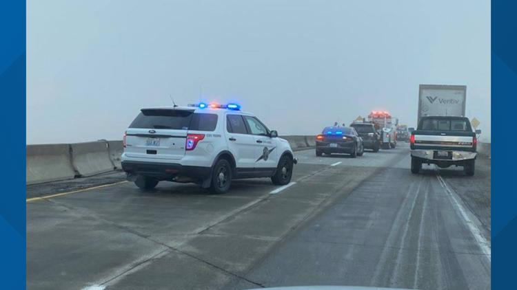 US-195 near Spangle re-opens after multiple crash car