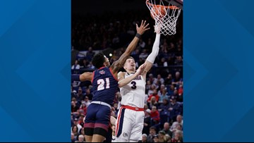 No. 1 Gonzaga beats Detroit Mercy 93-72 behind Petrusev's 22