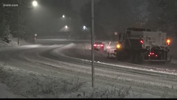 Spokane Valley used salt to combat icy roads following Wednesday snowfall