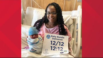 Baby born on 12/12 at 12:12 a.m. in Illinois