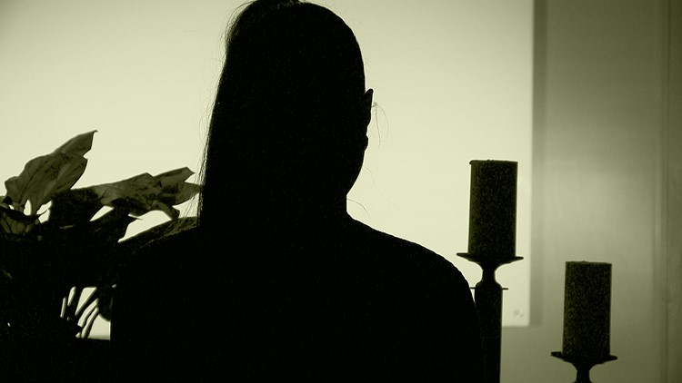 Silhouette, recovering addict in Arkansas.