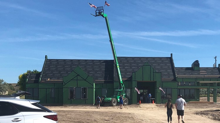 This is the home under construction for the Cottle family. It's being built by the Gary Sinise Foundation R.I.S.E. Program, mortgage free for the Cottles.
