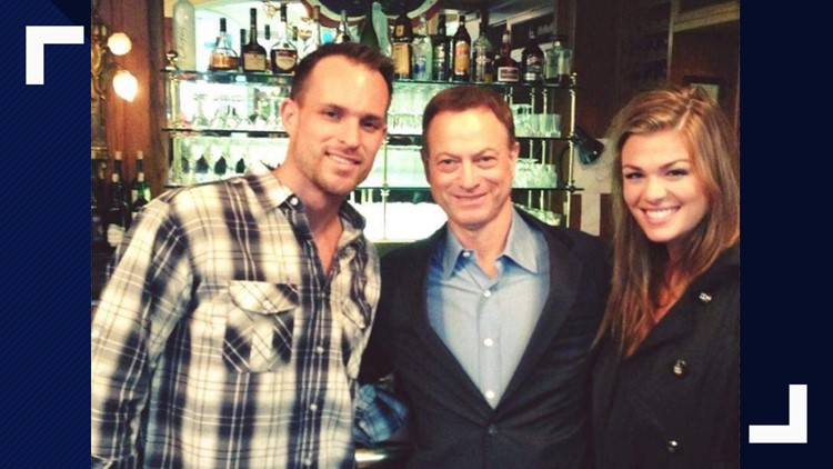 Jesse and Kelly Cottle met actor Gary Sinise of the Gary Sinise Foundation in 2013.