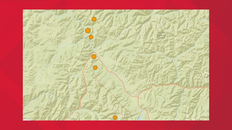 6 earthquakes hit near Stanley