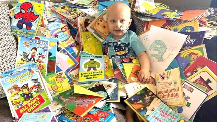 3-year-old Boise boy battling cancer receives birthday cards from our community
