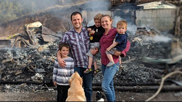 Southern Idaho family shares inspirational Easter message after their home burns down on Friday
