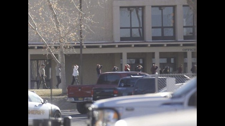 Police have not yet publicly identified the shooter or the two students who were killed at Aztec High School in northwestern New Mexico.