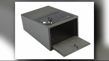 25,000 handgun safes recalled because they can open when dropped