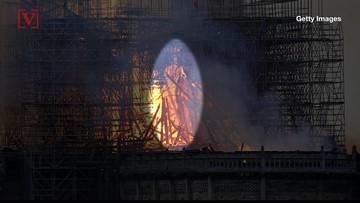 Social Media Spots Jesus-Like Figure, Angel Among Notre Dame Cathedral Flames