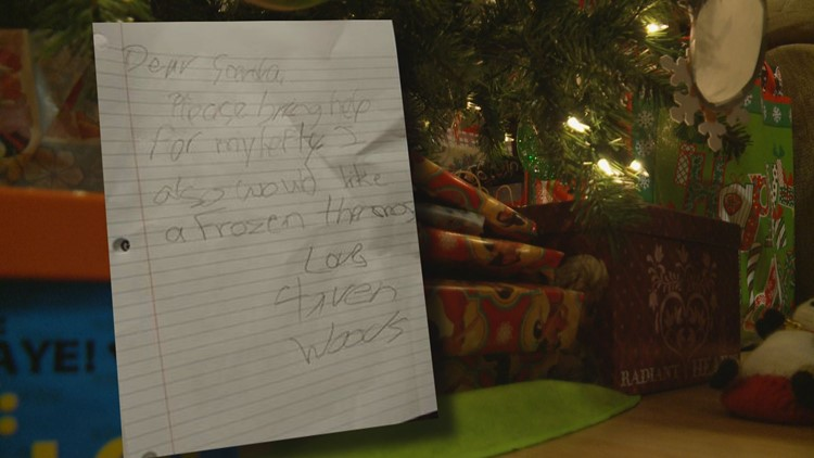 East Tennessee girl asks Santa to bring help for her 'lefty'