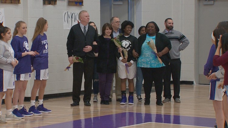 "Danielle ""Boogie"" Wilson on senior night"