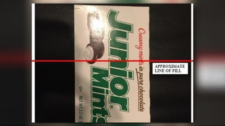 """In a federal class-action lawsuit against Tootsie Roll Industries, Biola Daniel claims the manufacturer of Junior Mints intentionally deceived sweet-toothed consumers by packaging them in unnecessarily large boxes topped off with too much air, referred to as """"slack-fill."""""""