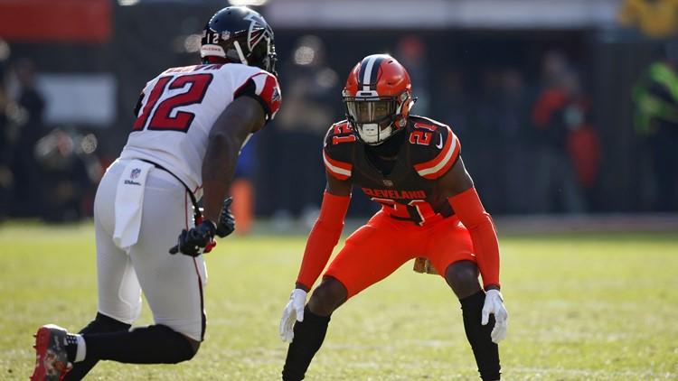 Denzel Ward Atlanta Falcons-Cleveland Browns Football